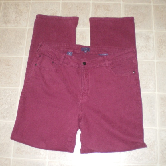 NYDJ Denim - NYDJ Burgundy Stretch Jeans Straight Leg sz14W